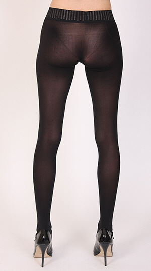 Leigh Models Wolford Fatal 50 Tights